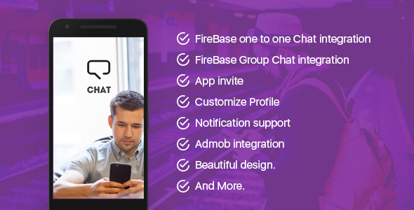 Chat App with FireBase - CodeCanyon Item for Sale