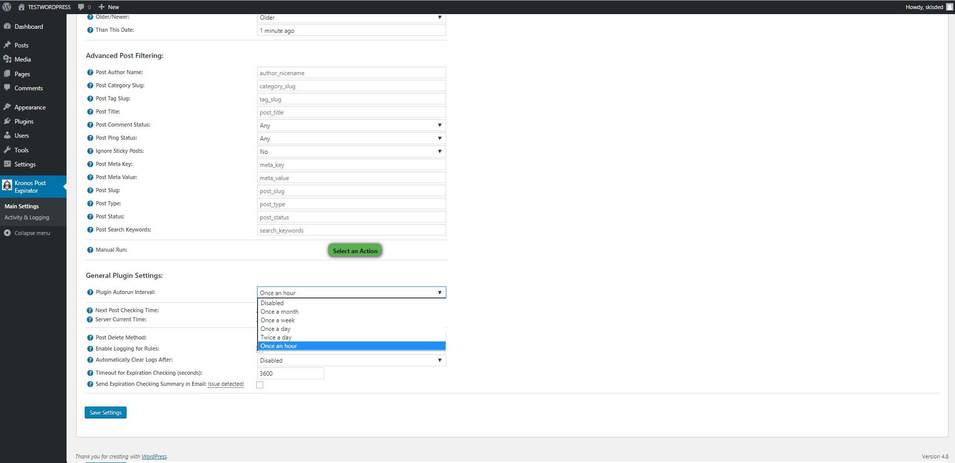 Kronos Automatic Post Expirator Plugin for WordPress