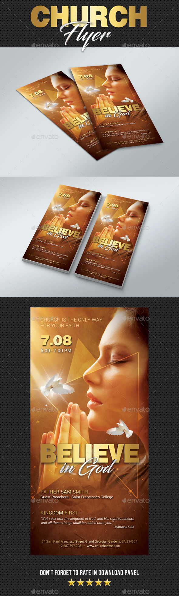 GraphicRiver DL Believe In God Flyer 20418776