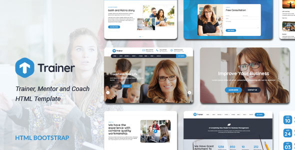 Trainer - Trainer, Mentor and Coach HTML Template