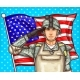 Vector Pop Art Illustration for a Memorial Day Soldier
