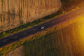 Aerial view of cars on the road in sunset - PhotoDune Item for Sale