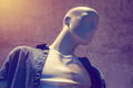 Boutique mannequin, male figure portrait