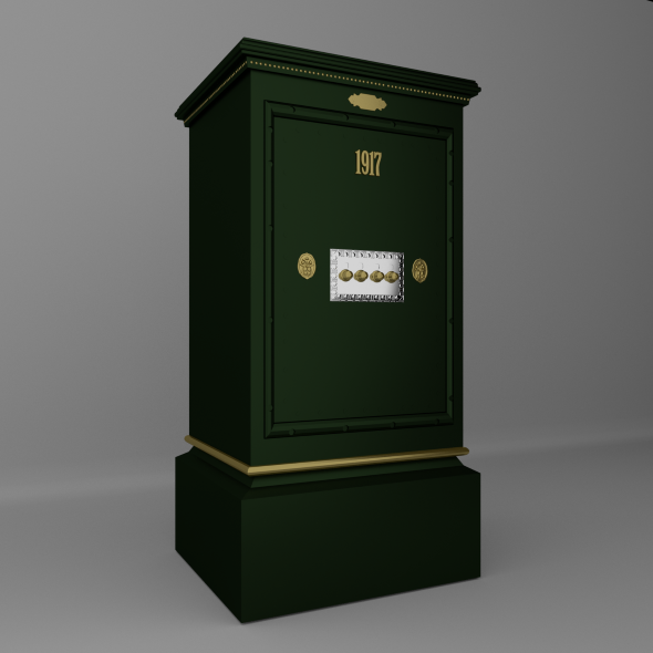 Old safe - 3DOcean Item for Sale