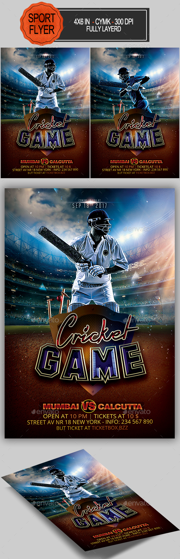 Cricket Game Flyer - Sports Events