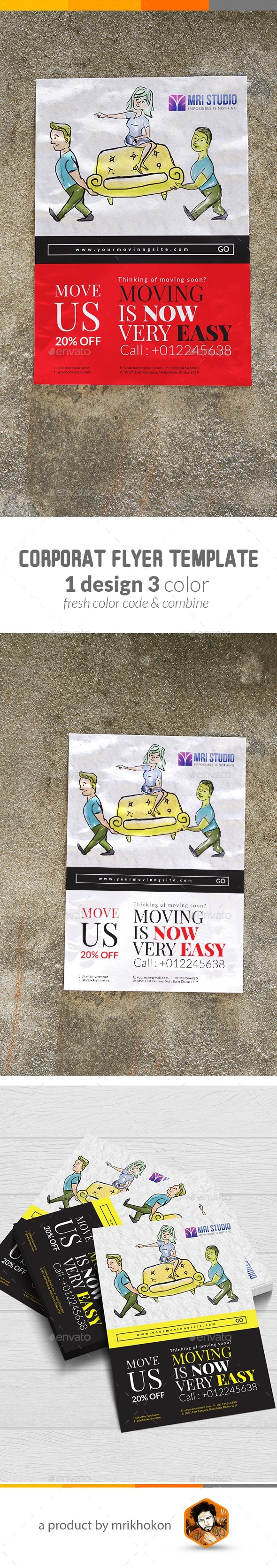 GraphicRiver Moving House Flyer 20419072
