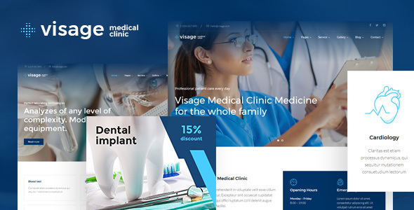 Visage | Medical & Health WordPress Theme - Health & Beauty Retail