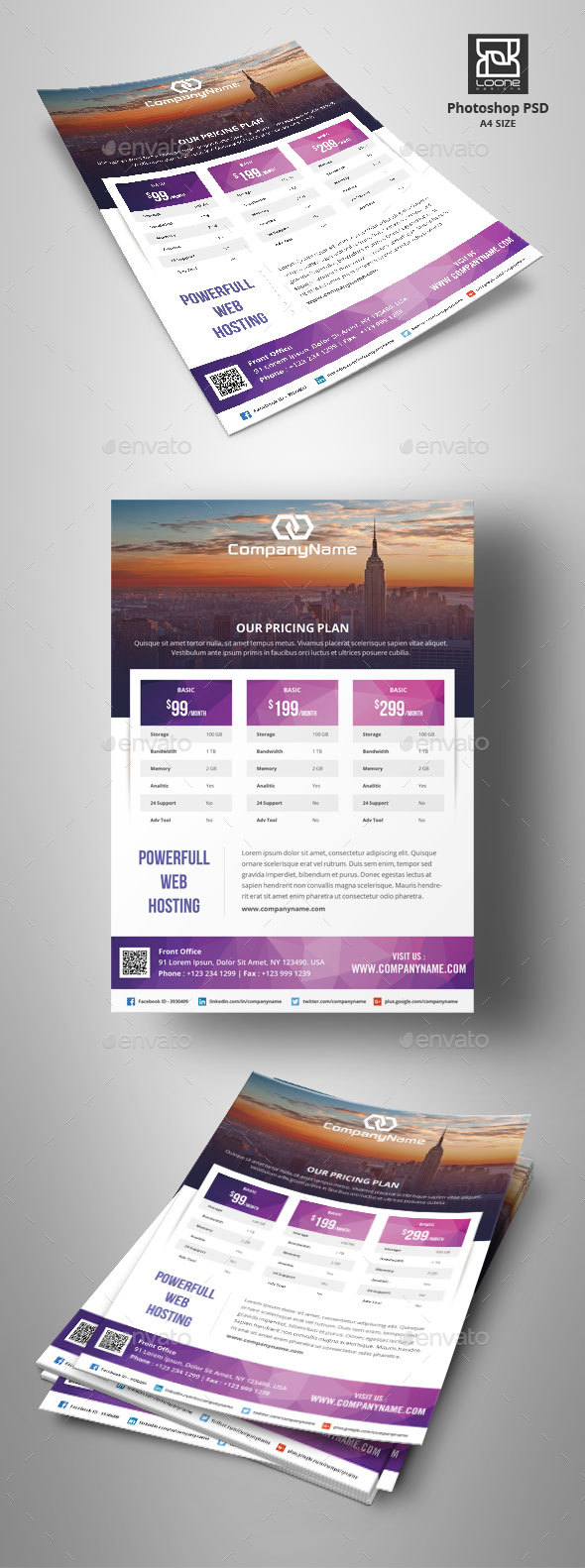 Web Hosting Flyer - Corporate Flyers