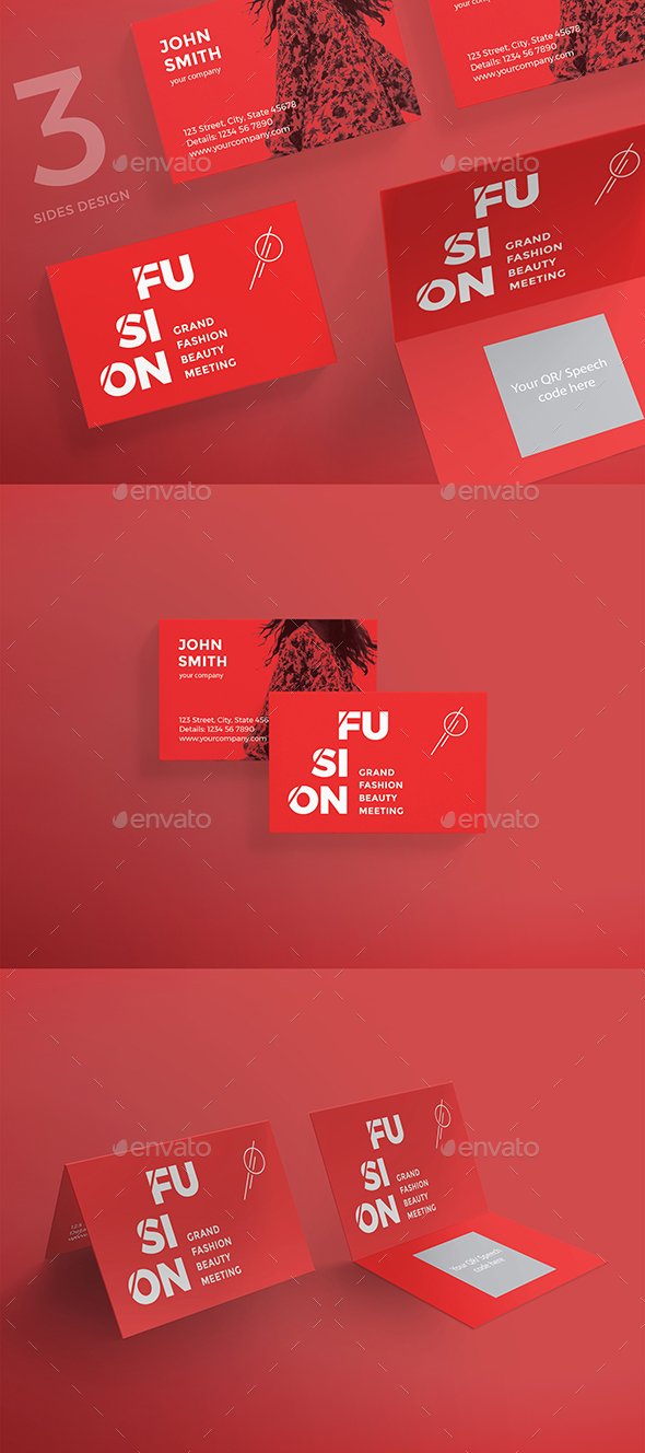 Fusion Creative Business Card - Business Cards Print Templates