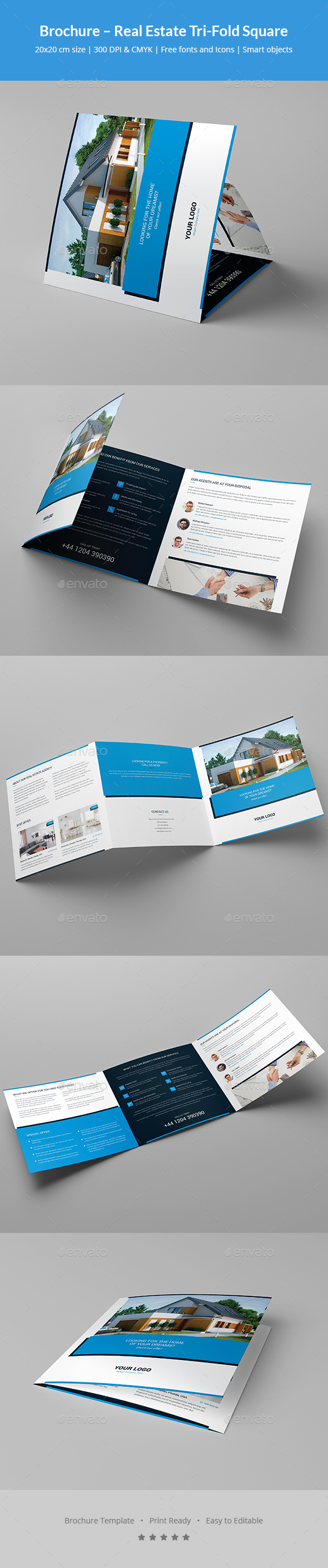 Brochure – Real Estate Tri-Fold Square - Corporate Brochures