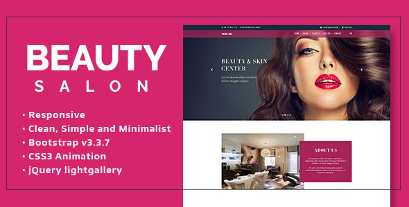 ThemeForest Beauty Salon Onepage 20419530