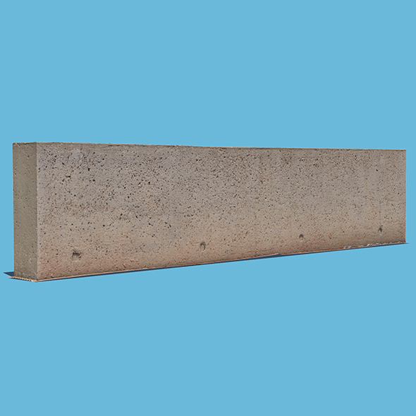Concrete Wall - 3DOcean Item for Sale