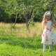 Funny Little Kid Playing Outside in Beautiful Summer Meadow - VideoHive Item for Sale