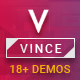 Vince One Page & Multi Page Multipurpose Joomla Theme With Page Builder