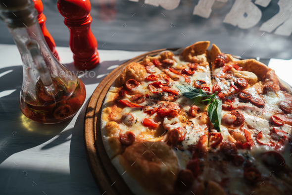 Pizza on the table - Stock Photo - Images