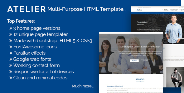 Image of Atelier - Multipurpose HTML Template