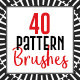 40 Decorative Pattern Brushes - GraphicRiver Item for Sale