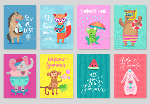 Animals Card Set - Animals Characters