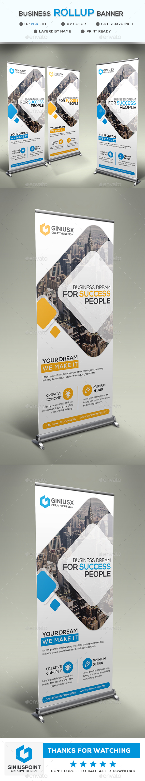 Business Rollup Banner - Signage Print Templates