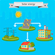 Solar Energy Panel Scheme - GraphicRiver Item for Sale