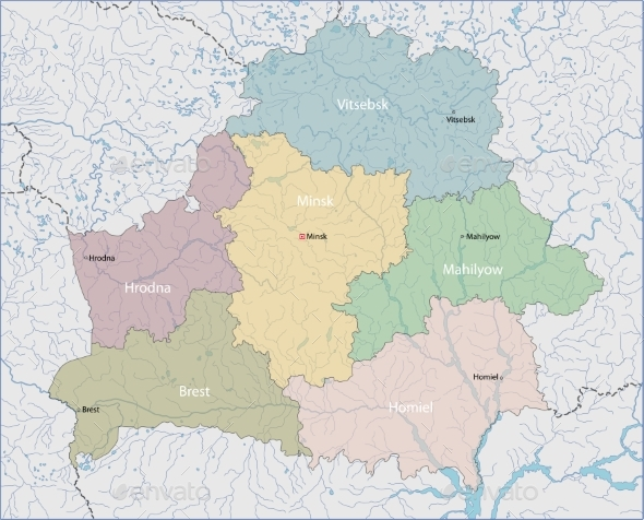 Map of Belarus - Miscellaneous Vectors