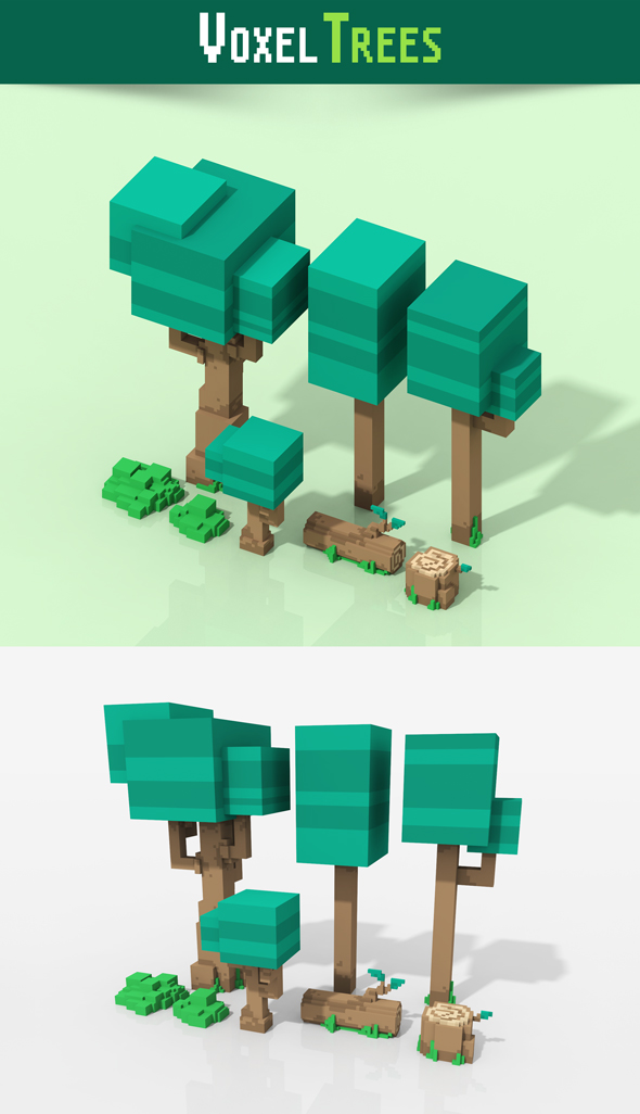 3DOcean Voxel Trees 20421160