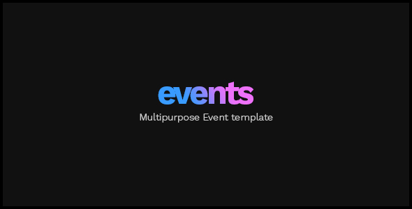 EVENTS - Multipurpose Conference Template