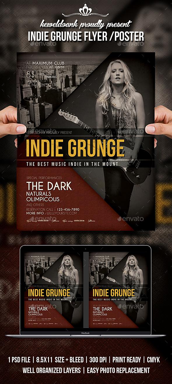 Indie Grunge Flyer - Events Flyers
