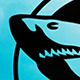 Classic Rounded Edge & Ribbon Edge Shark Logo