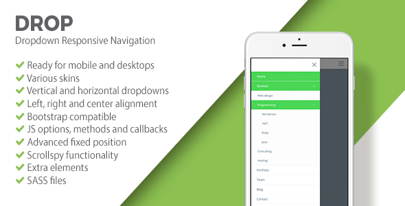 DROP | Responsive Dropdown Navigation - CodeCanyon Item for Sale
