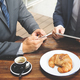 Two Businessmen Cafe Meeting Wireless Tablet Concept - PhotoDune Item for Sale
