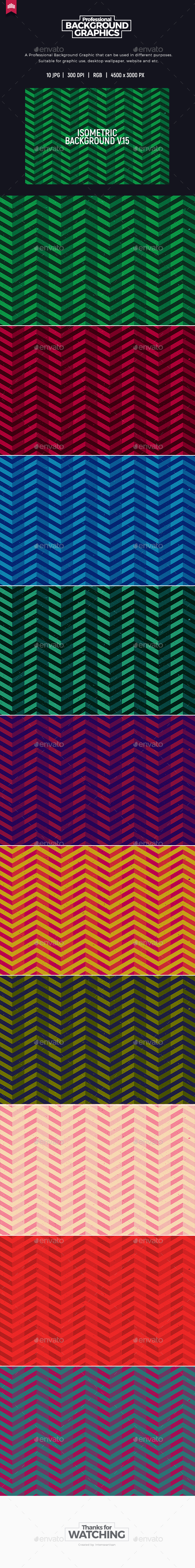 Isometric Background V.15 - Abstract Backgrounds
