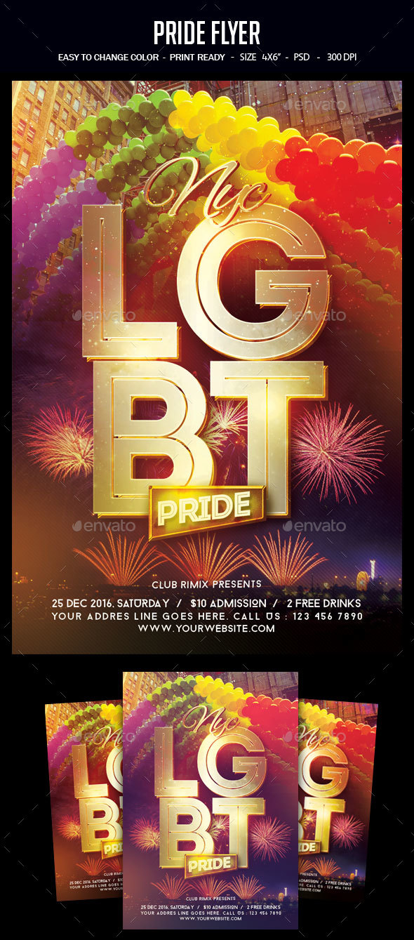 LGBT Pride Flyer - Clubs & Parties Events