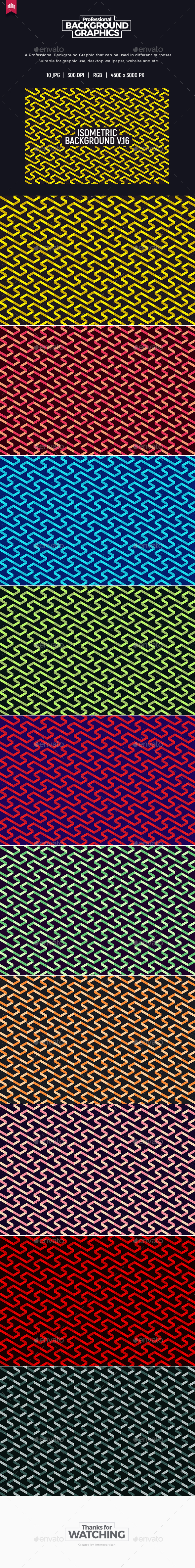 Isometric Background V.16 - Patterns Backgrounds