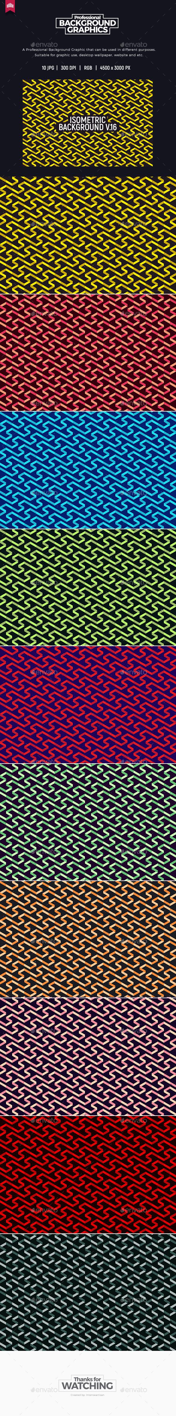 Isometric Background V.16