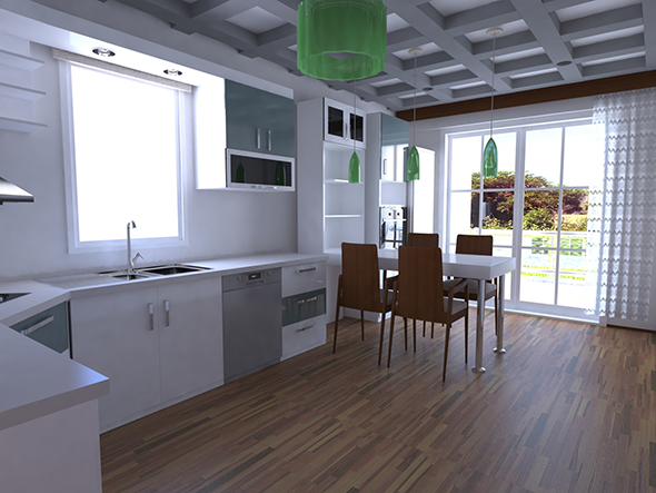 The kitchen - 3DOcean Item for Sale