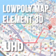 Lowpoly Map Element 3D