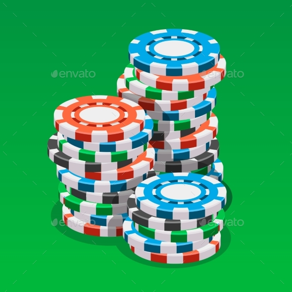 GraphicRiver Casino Chips Isometric Vector Illustration 20422448
