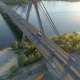 Aerial Drone Footage. Radial Fly Over Movkovsky Bridge at Sunset - VideoHive Item for Sale