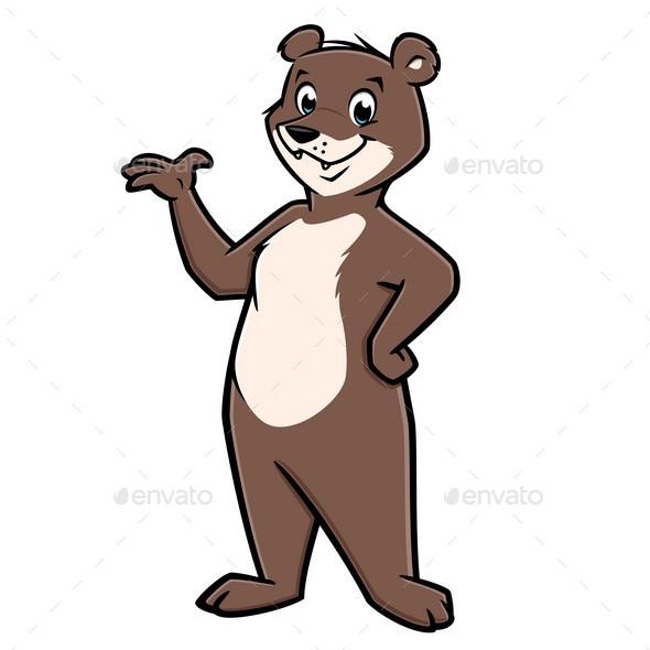 Cartoon Happy Bear - Animals Characters