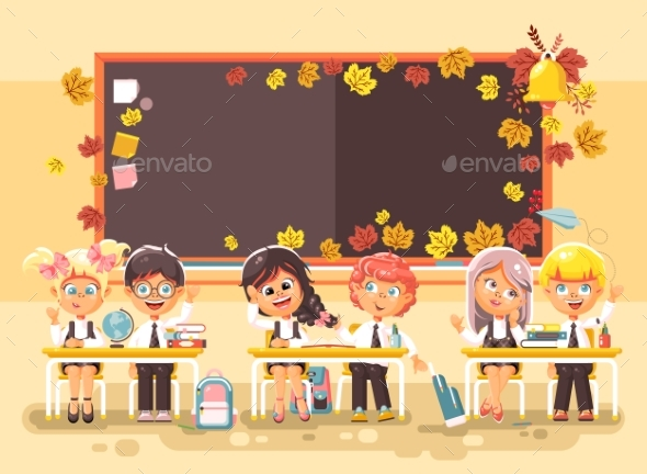 Back To School Cartoon - People Characters