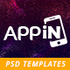 Appin - App Landing Page PSD - ThemeForest Item for Sale