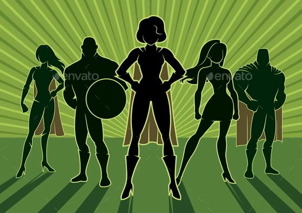 GraphicRiver Superhero Team 3 20422532