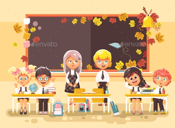 Vector Illustration Back To School Cartoon - People Characters