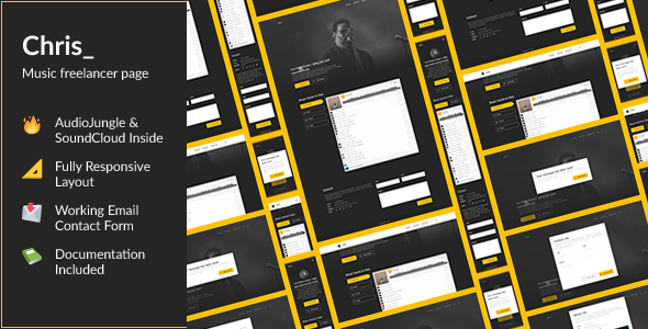 Chris — HTML Portfolio For an AudioJungle Author