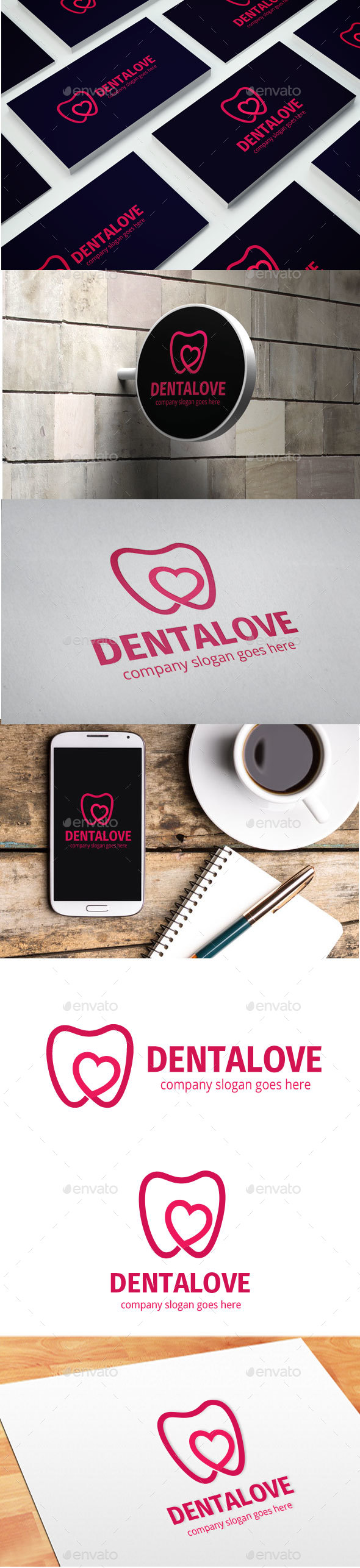Dentalove Logo - Objects Logo Templates