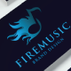 Fire Music Logo - GraphicRiver Item for Sale