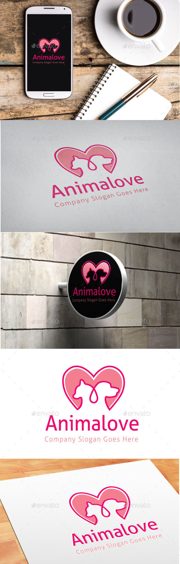 Animal Love Logo - Animals Logo Templates