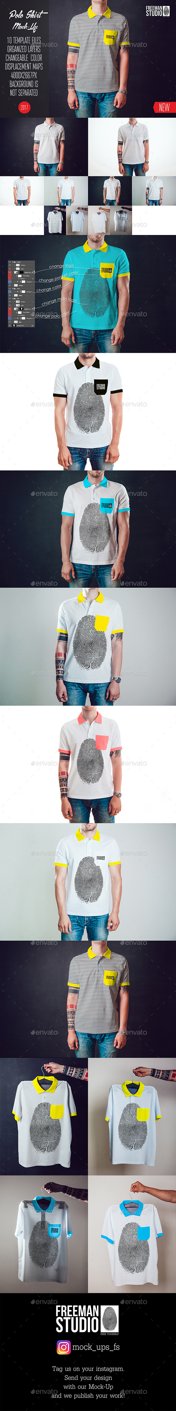 GraphicRiver Polo Shirt Mock-Up Vol.1 2017 20423026