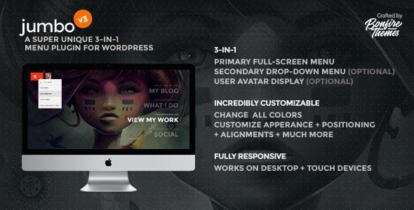 Jumbo: A 3-in-1 full-screen menu for WordPress - CodeCanyon Item for Sale